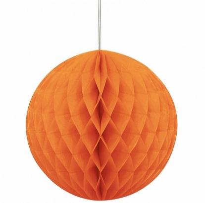 Riputatav paberist pall, oranž (20 cm)