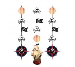 """Riputatavad dekoratsioonid """"Piraadi aare"""" (3 tk)"""