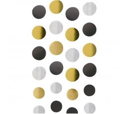 Riputatavad kaunistused, must-kuldne-hõbe (4 tk)
