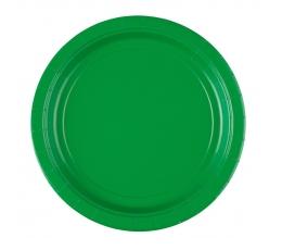 Rohelised taldrikud (8 tk. / 22 cm)