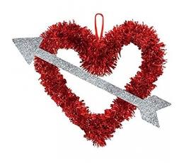 """Sädelev dekoratsioon """"Noolega süda"""" (27x33 cm)"""