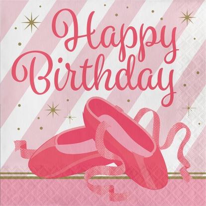 "Salvrätikud ""Ballett. Happy Birthday"" (16 tk)"