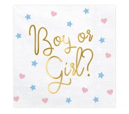 """Salvrätikud """"Boy or Girl"""" (20 tk.)"""