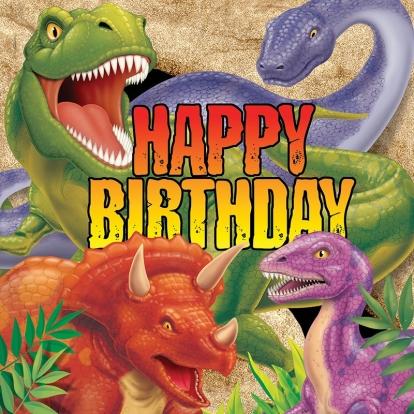 "Salvrätikud ""Dinosaurus Dinas"" (16 tk.)"