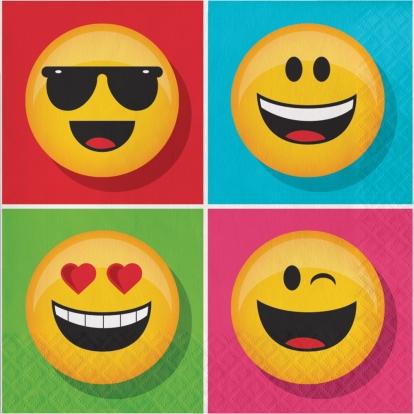 """Salvrätikud """"Emojions"""" (16 tk.)"""