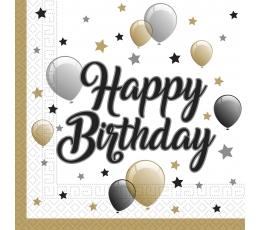 """Salvrätikud """"Happy Birthday Balloons"""" (20 tk)"""