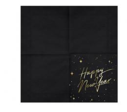 "Salvrätikud ""Happy New Year"", mustad (20 tk.) 1"