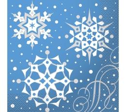 """Salvrätikud """"Hõbedased lumehelbed"""" (16 tk)"""