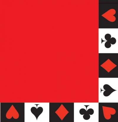 """Salvrätikud """"Kaardipakk"""" (16 tk)"""