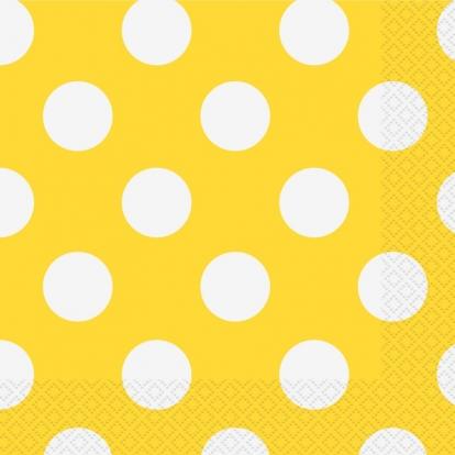 Salvrätikud, kollased täpilised (16 tk / 33x33 cm)