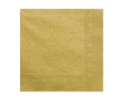 Salvrätikud, kuldsed läikivad (20 tk)