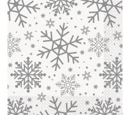 """Salvrätikud """"Läikivad lumehelbed"""" (16 tk)"""