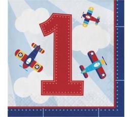 """Salvrätikud """"Lennukite 1-ne sünnipäev"""" (16 tk)"""