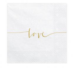 """Salvrätikud """"Love"""" (20 tk.)"""