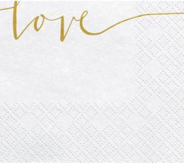 """Salvrätikud """"Love"""" (20 tk.) 1"""