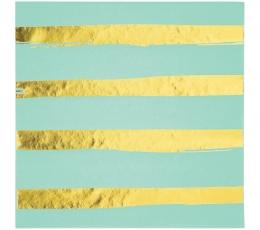 Salvrätikud, mündi - kuldse triibulised (16 tk)