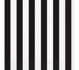 Salvrätikud mustad triibulised  (16 tk)
