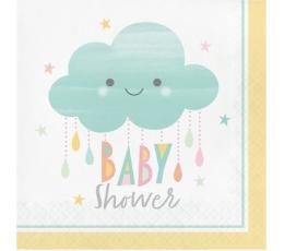 "Salvrätikud ""Pilveke .Baby Shower"" (16 tk.)"