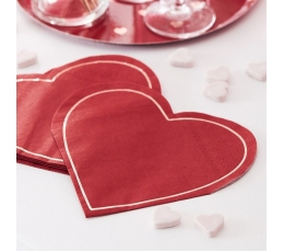 "Salvrätikud ""Punane süda"" (16 tk.)"