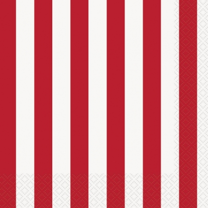 Salvrätikud, punase triibulised (16 tk.)