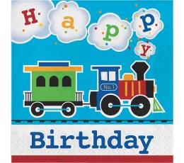 """Salvrätikud """"Rong. Palju õnne sünnipäevaks"""" (16 tk)"""
