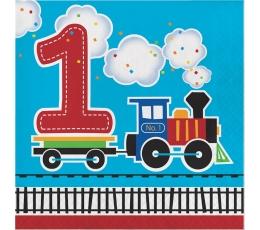 """Salvrätikud """"Rong - 1. Sünnipäev"""" (16 tk)"""