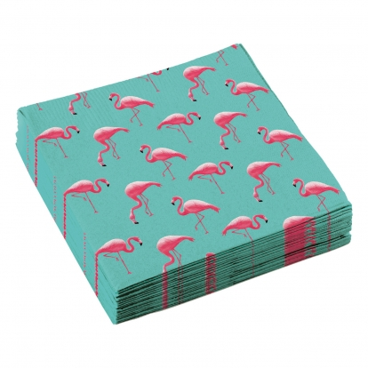 """Salvrätikud """"Roosad Flamingod"""" (20 tk)"""