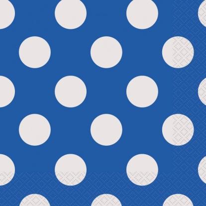 Salvrätikud,sinised täpilised (16 tk / 33x33 cm)