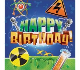 """Salvrätikud """"Teadlane. Happy-Birthday"""" (16 tk)"""