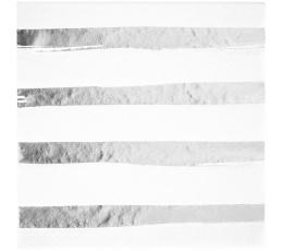 Salvrätikud valge hõbedaste triipudega (16tk)