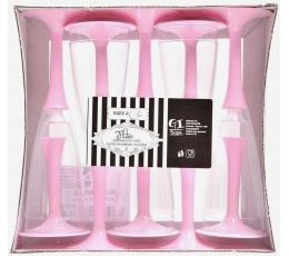 Šampanjapokaalid, roosad (10 tk)