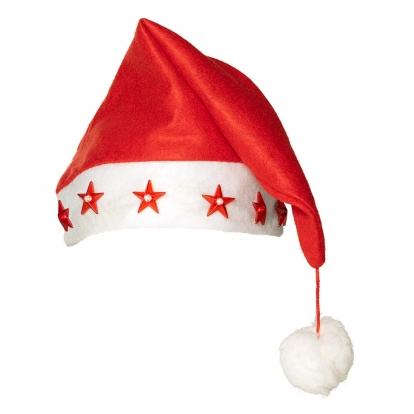 """Särav jõulumüts """"Punased tähed"""""""