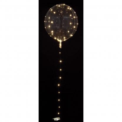 Särav õhupall-clearz valgete LED lambikestega