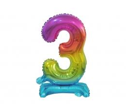 """Seisev õhupalli number """"3"""", mitmevärviline (38 cm)"""