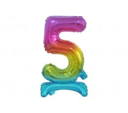 """Seisev õhupalli number """"5"""", mitmevärviline (38 cm)"""