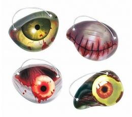 """Silmaklapid """"Halloweeni silmad"""" (12 tk)"""