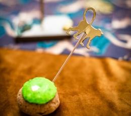 """Suupistetikud/dekoratsioonid """"Džungli loomad"""", kuldsed (20 tk./12 cm) 1"""