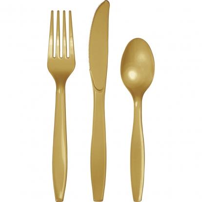 Söögiriistade komplekt, kuldne (8 inimesele)
