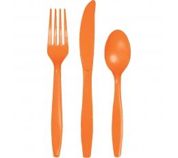 Söögiriistade komplekt oranž (8 inimesele)