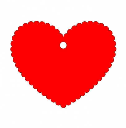 Soovide süda / punane (20 tk)