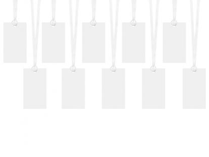 Soovidekaardi - etidketid, valged (10 tk))