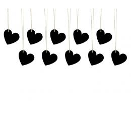 Soovidekaardid, kriidist südamed  (10 tk)