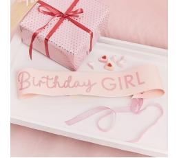 """Sünnipäeva lint  """"Birthday girl"""", roosa"""