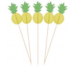 """Suupistetikud - dekoratsioonid """"Ananassid"""" (10 tk)"""