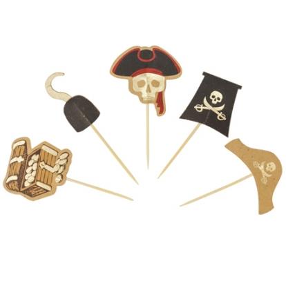 """Suupistetikud-dekoratsioonid """"Piraadid"""" (10 tk)"""