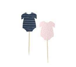 """Suupistetikud-kaunistused """"Baby"""", roosad-sinised (12 tk.) 1"""