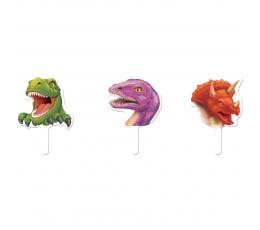 """Suupistetikud-kaunistused """"Dinosaurused"""" (12 tk)"""