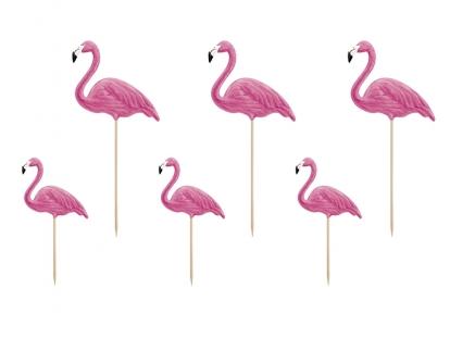 """Suupistetikud-kaunistused  """"Flamingod"""" (6 tk)"""