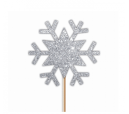 """Suupistetikud-kaunistused """"Hõbedased lumehelbed"""" (12 tk.)"""