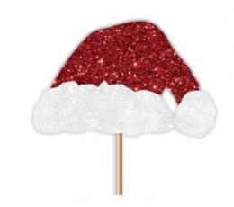 """Suupistetikud-kaunistused """"Jõuluvana müts"""" (12 tk.)"""